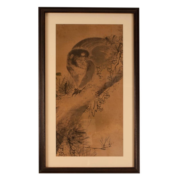 Circa 1820 Edo Period Japanese Ink on Paper Painting For Sale
