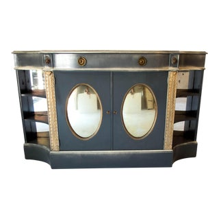Antique Mirrored Bar Cabinet Hall Table