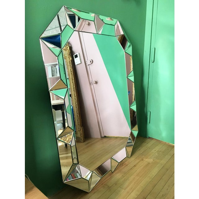 Geometric Cut Surround Octagonal Mirror For Sale - Image 4 of 11