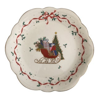 "Mikasa Bone China ""Christmas Cheer"" Plate"