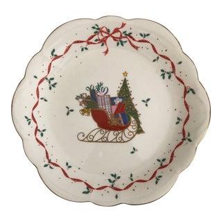 """Mikasa Bone China """"Christmas Cheer"""" Plate For Sale"""
