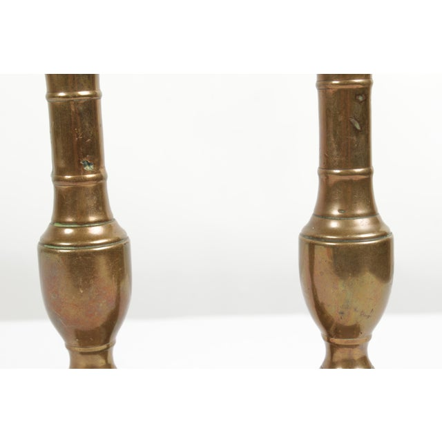 Antique Copper Candlesticks - a Pair For Sale - Image 4 of 6