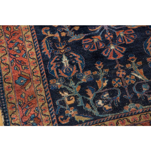 """Vintage Lilihan Square Rug - 3'7"""" X 4'8"""" For Sale In New York - Image 6 of 14"""