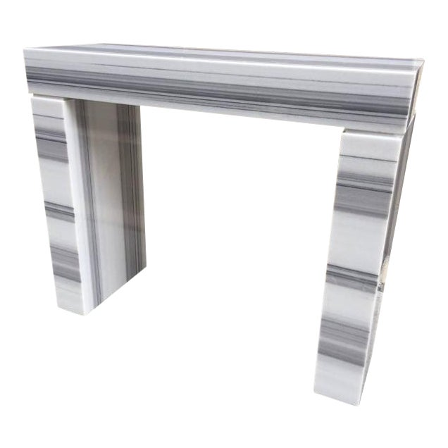 Carrara Marble Console / Fireplace Mantel For Sale