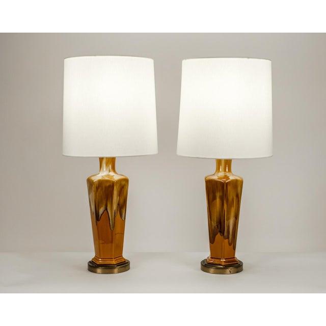 Art Deco Vintage Porcelain Desk / Table Lamps - a Pair For Sale - Image 3 of 10