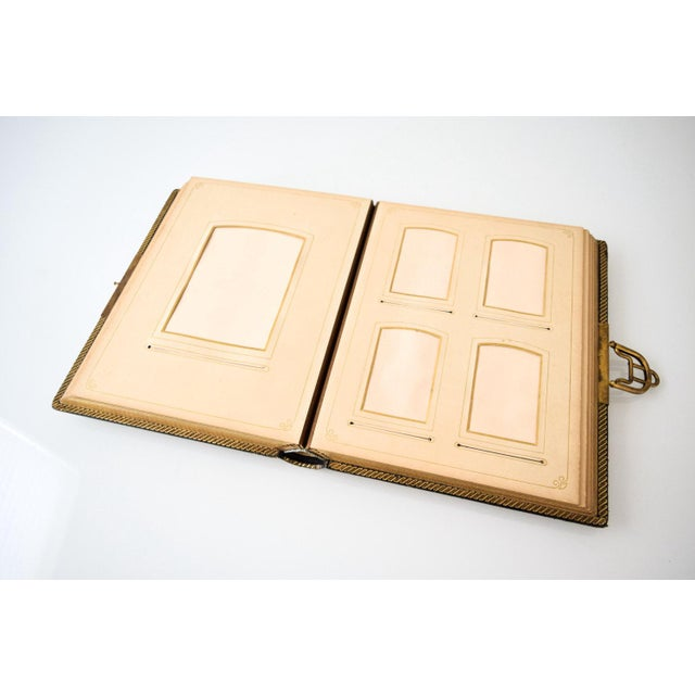 Antique English Victorian Photo Album with Brass Clasp, 1890s For Sale - Image 5 of 6