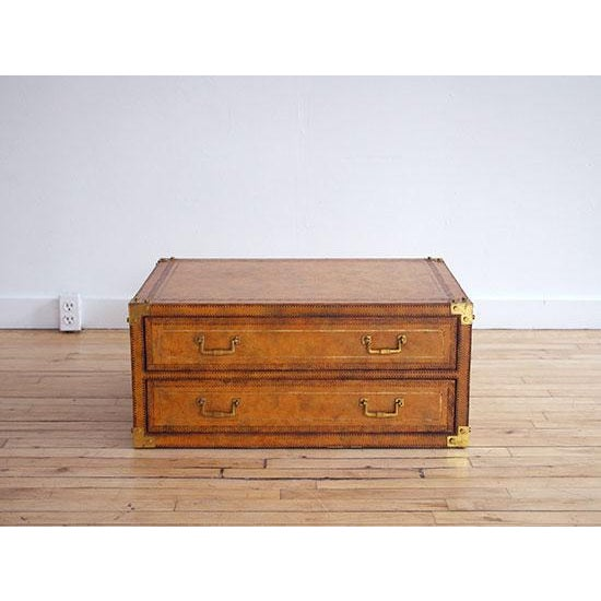 Mid 19th Century Maitland Smith Leather Campaign Chest For Sale - Image 5 of 5