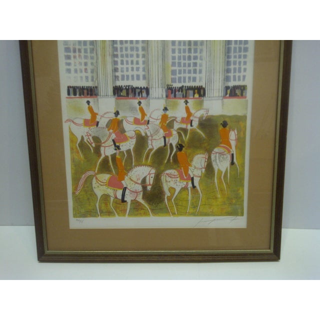 """""""Horses on Parade"""" Framed & Matted Limited Edition Signed Numbered (186/375) Print For Sale - Image 4 of 8"""