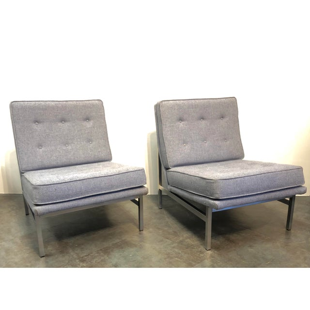 Early Florence Knoll Designed Slipper Chairs - a Pair For Sale - Image 13 of 13