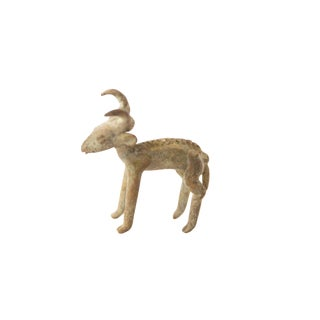 Vintage African Oxidized Bronze Antelope For Sale