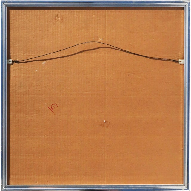 1970s 1970s Op Art Foil Painting For Sale - Image 5 of 7