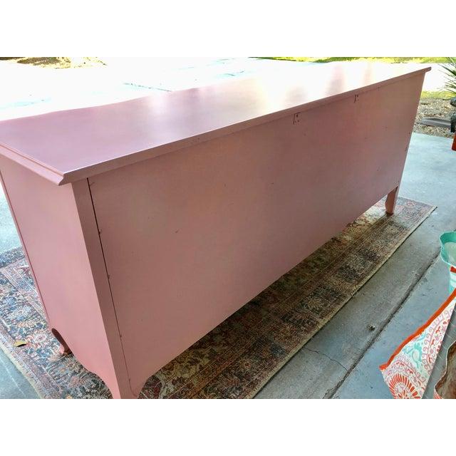 Vintage Drexel French Provincia Pink Triple Dresser For Sale - Image 12 of 13