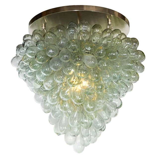 Mid 20th Century Grape Cluster' Blown Glass Light Fixture Flush Mount For Sale - Image 5 of 5