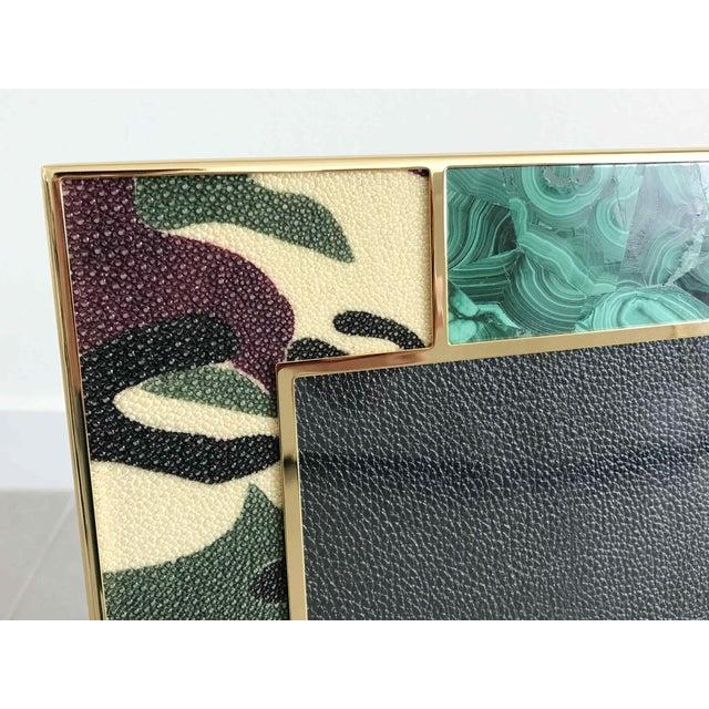 Leather Camoflauge Shagreen Photo Frames For Sale - Image 7 of 10