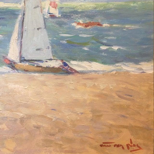 Regatta Niek Van Der Plas Framed Painting For Sale - Image 4 of 6