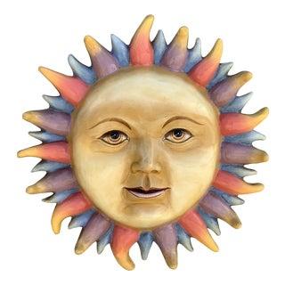 1960s Paper Mache Sunburst Sculpture For Sale