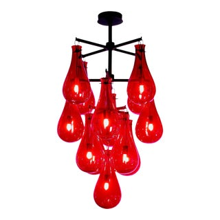 Veronese The Drop Chandelier Available in Nine or Thirteen Lights For Sale