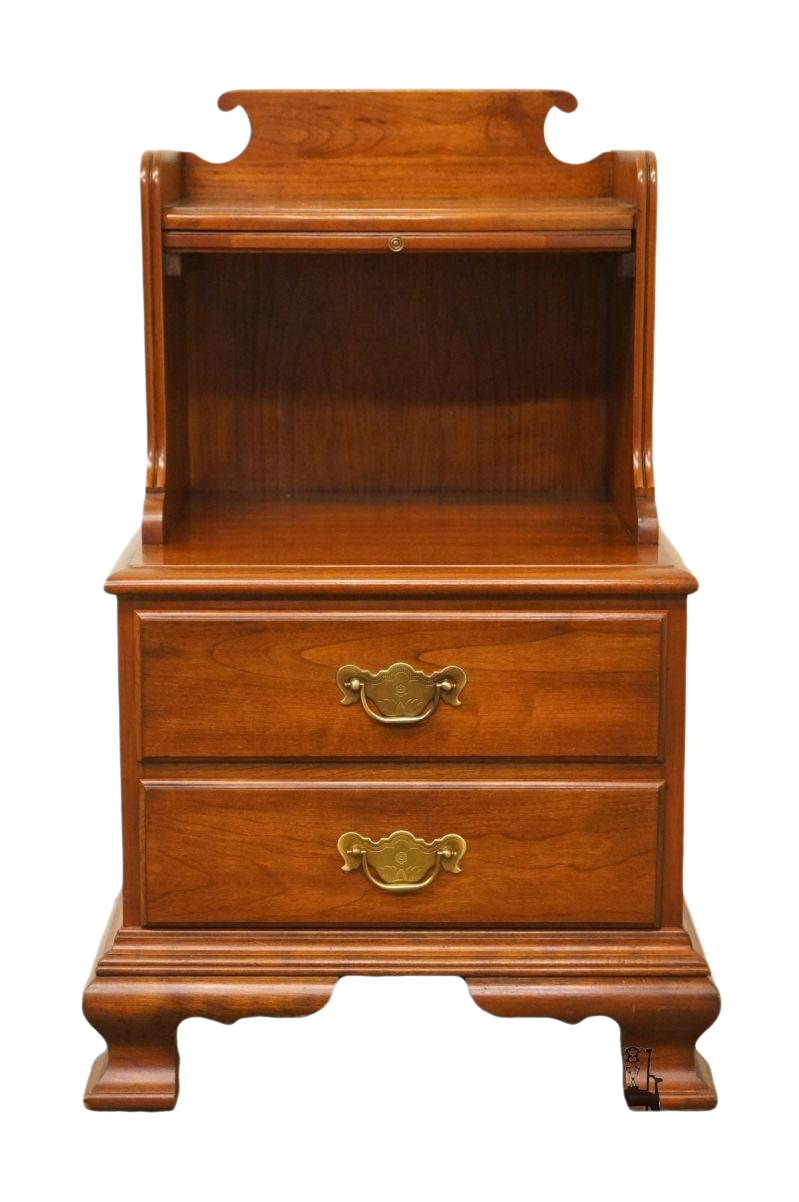 20th Century Traditional Pennsylvania House Solid Cherry Two Drawer  Nightstand