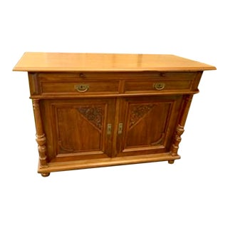 Antique Hand-Carved Buffet For Sale