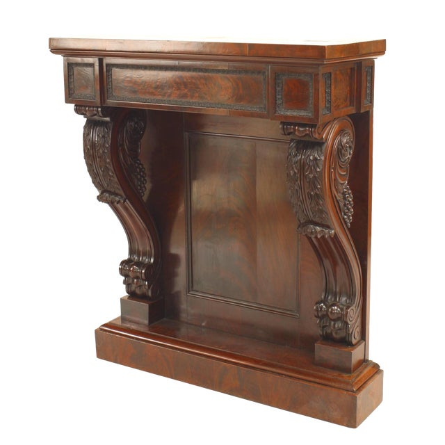 19th Century English Regency Mahogany Console Table For Sale