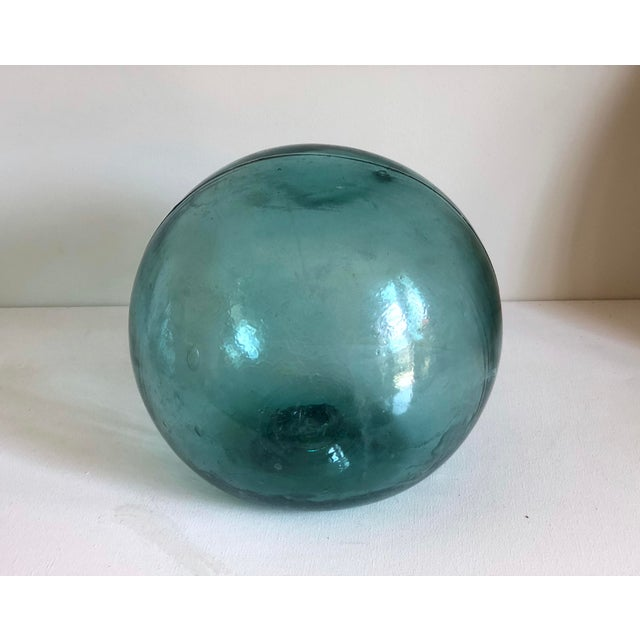 Vintage Aqua Glass Fishing Float For Sale In Los Angeles - Image 6 of 6