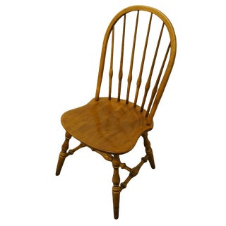 Ethan Allen Solid Maple Windsor Dining Side Chair For Sale