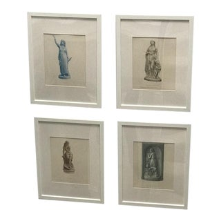 Antique Steel Plate Engravings - Set of 4 For Sale
