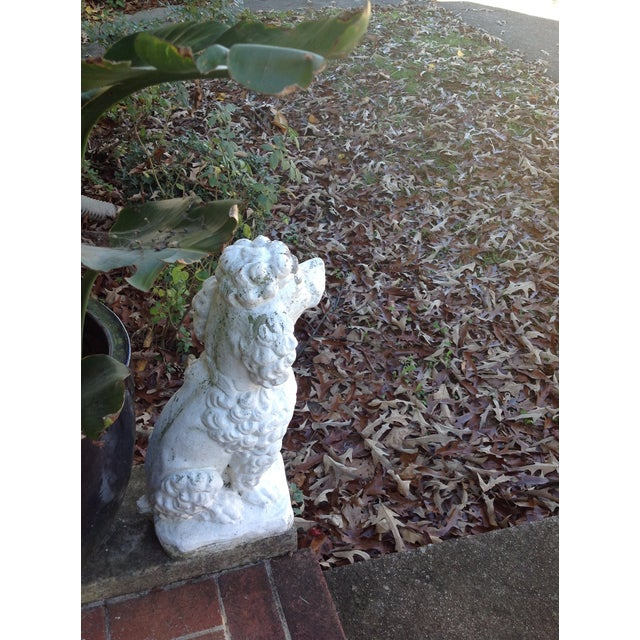 Vintage White Poodle Statue - Image 4 of 4
