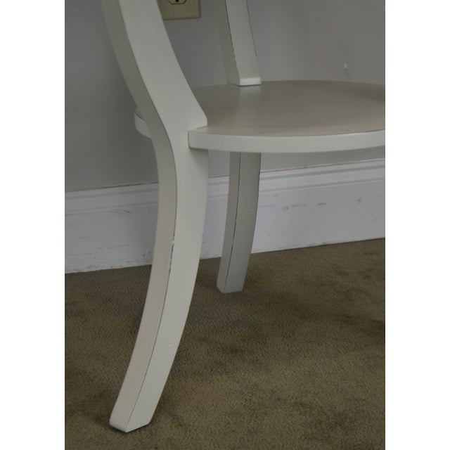 Round White One Drawer Side Table For Sale - Image 11 of 13