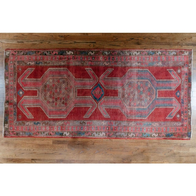 """1940s Vintage Nomadic Persian Rug-4'8'x9'7"""" For Sale - Image 13 of 13"""