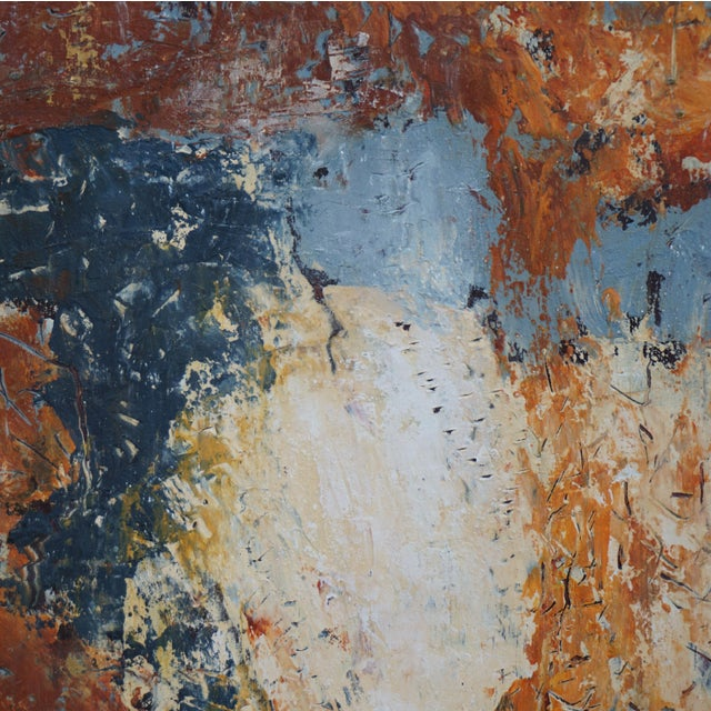 """Contemporary Laurie MacMillan """"Doubling Back"""" Abstract Painting For Sale - Image 3 of 5"""