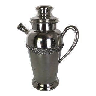 Silver Plated Mid Century Modern Tea Pot Style Cocktail Shaker by Broadway e.p.c. For Sale