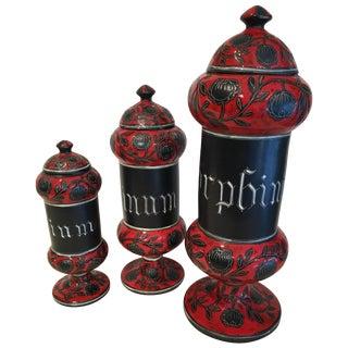 Italian Ceramic Decanters by Alvino Bagni For Sale