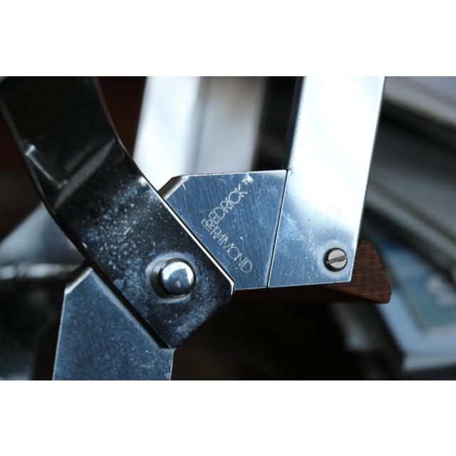 Fredrick Ramond Lighting Oak, Chrome and Glass Pendant Chandelier For Sale - Image 9 of 13
