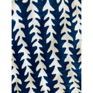 White & Blue Small Patterned Fabric - 1.5 Yards For Sale