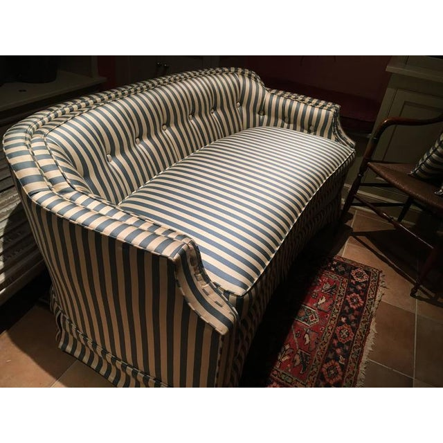Curved Tufted Back Loveseats - A Pair - Image 2 of 4