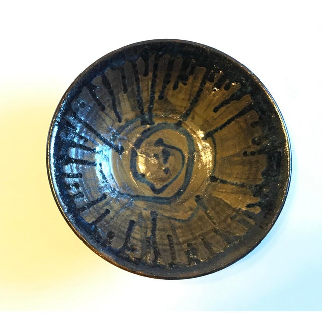 Boho Chic Glazed Beeware Ceramics Pottery Bowl For Sale - Image 3 of 7