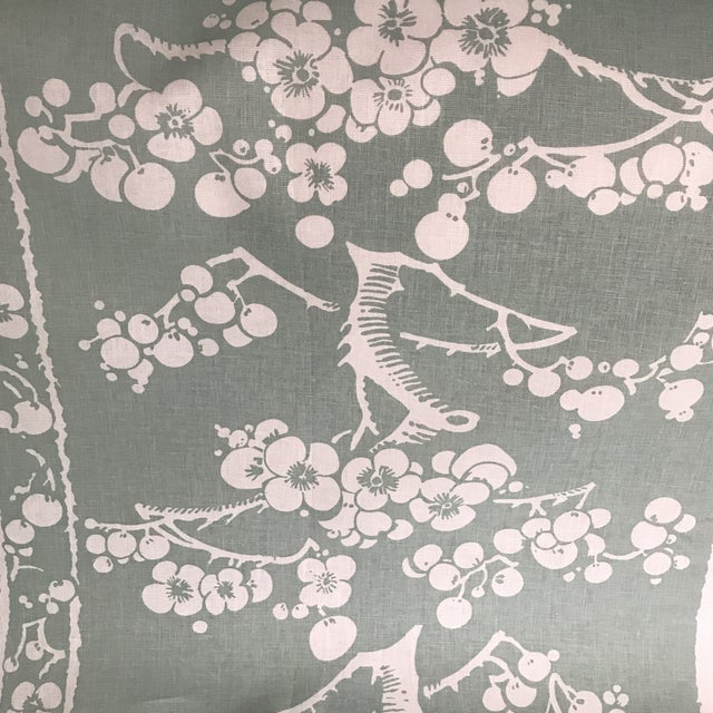 China Seas Quadrille Hawthorne Linen Fabric - 2 Yards For Sale - Image 4 of 7