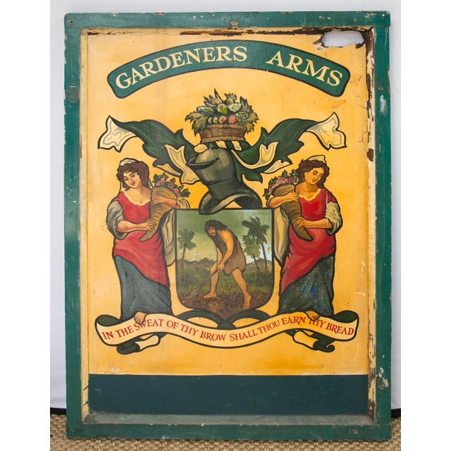 """English """"Gardeners Arms"""" Pub Sign - Image 3 of 7"""