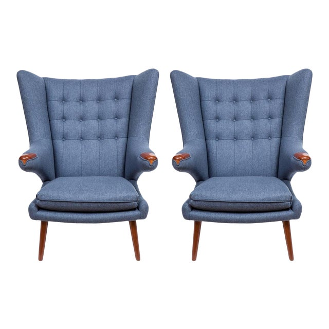 Pavel Wingback Armchairs - a Pair For Sale