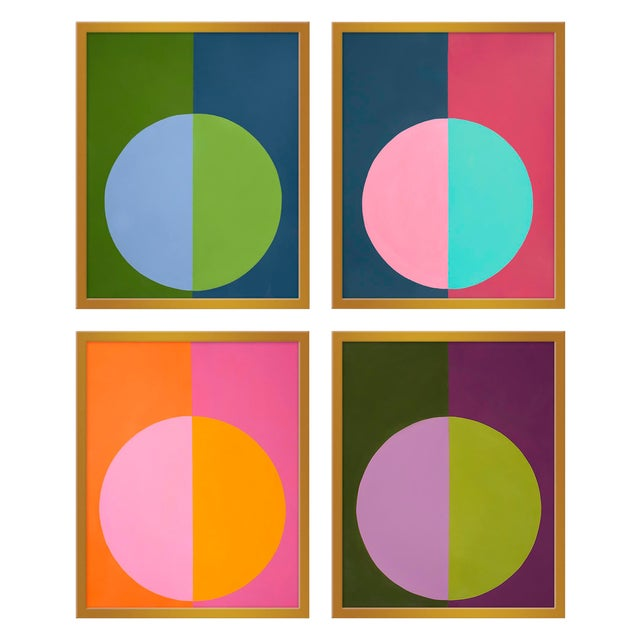 """XL """"Forevers Set of 4"""" Prints by Stephanie Henderson, 50"""" X 62"""" For Sale"""