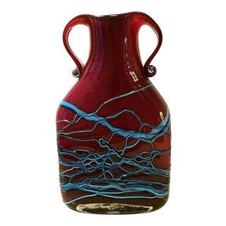 Azerbaijan Art Glass Vase