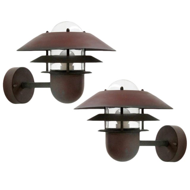 Nordlux Danish Outdoor Wall Lights - a Pair For Sale