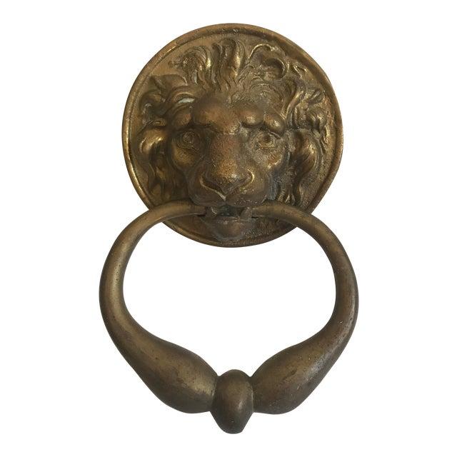 Antique Lion Head Door Knocker - Image 1 of 8