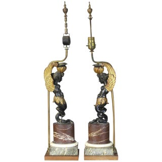 Pair of Early 19th Century French Architectural Fragment Lamps For Sale