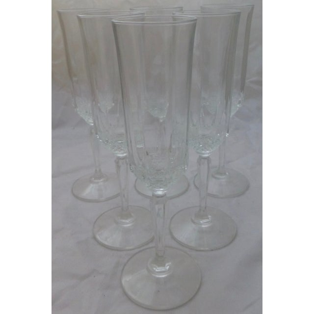 Vintage French Champagne Flutes - Set of 6 - Image 2 of 7