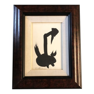 Vintage Abstract Robert Cooke Duck Painting 1970's For Sale