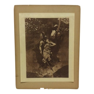 """Mounted Photogravure on Paper, """"The Guardian Angel"""" 1890 For Sale"""