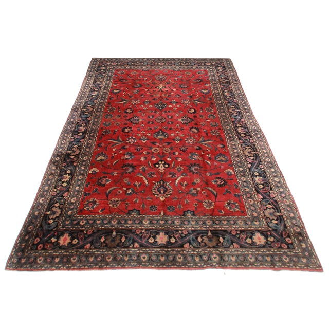 """RugsinDallas Hand Knotted Wool Persian Mashad Rug - 10'4"""" X 16'4"""" - Image 2 of 2"""
