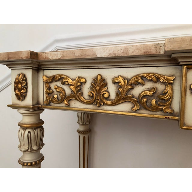 20th Century Vintage Karges Louis XVI Style Console Entry Table For Sale In San Francisco - Image 6 of 12